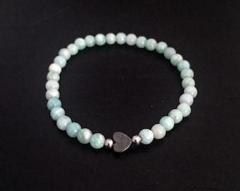 Teeny Amazonite Heart Bracelet