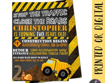 Dump Truck Invitation, Construction Birthday Invitation, Construction Invite, Construction Party, Dump Truck Birthday, Dump truck Party