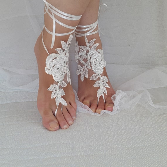 Anklet wedding free sandals bridal summer ivory accessories wedding shoes lace bridal shipping shoes bridesmaids shoes sandals 04wgqT7