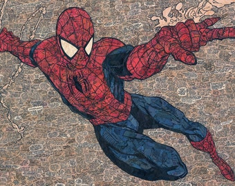 Spider-Man Comic Collage - giclee print