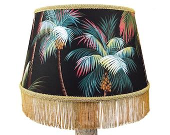 Large 40cm Tiki Decor Palm Tree Print Retro Lamp Or Ceiling Shade   Custom  Lampshades