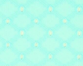 Michael Miller - Lattice Cotton Eyelet in Mist fabric - seafoam mint aqua - cotton sewing fabric - HALF YARD