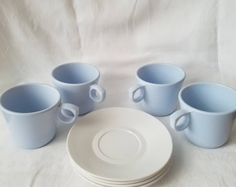 Vintage Coffee Cups and Plates