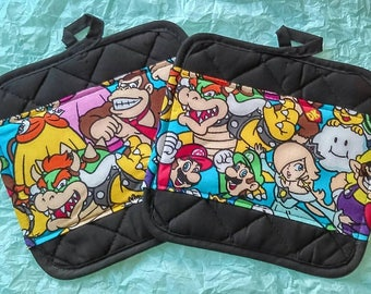 Nintendo Characters Pot Holders - Hot Pads