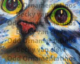 Cat Art Painting Print