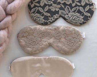 Lace Sleep Mask / Satin Sleep Mask / Black Sleep Mask / Champagne Sleep Mask / Floral Lace Mask / Satin Mask / Black Lace Mask