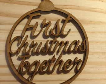 Christmas Bauble Gift Tag; First Christmas together bauble