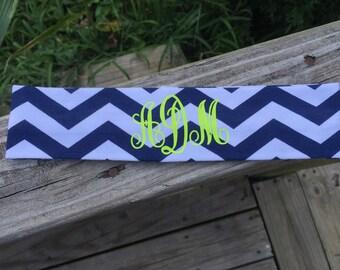 2 inch wide Chevron Monogram Headbands   ~
