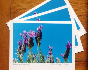 Spanish Lavender Photo Art Card
