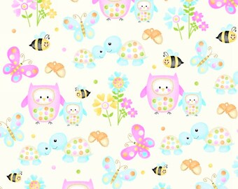Woodland Cuties - 9975-40 Cream Owl & Friends by First Blush Studios from Henry Glass