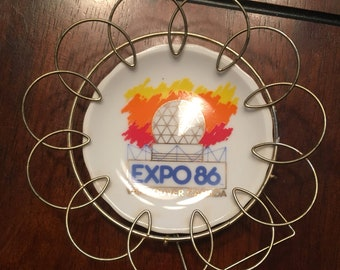 Vintage Expo 86 small decorative plate