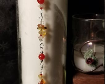 Magic, candle, spell, red jade, red agate