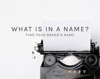 Business naming service, brand naming service, brand name service, business name service, brand name, business name