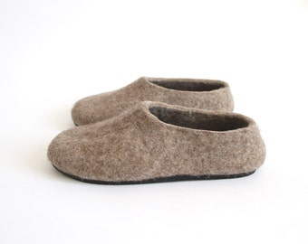 Ecofriendly Mens Felted Slippers House Shoes For Men, Woolen Slippers, Men Slippers Boots Felted Wool Slippers Organic Wool Shoes, Dad Gifts