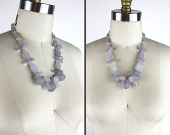 Vintage Lavender Beaded Necklace
