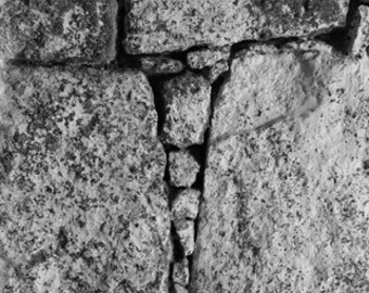 Black and White Stone Triangle Abstract, photograph