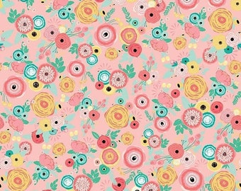 20% OFF Riley Blake Designs Just Sayin' by My Mind's Eye Floral Pink