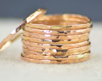 Rose Gold Ring, Stack Ring,Simple Ring,Rose Gold Band,Thin Rose Gold Ring,Rose Gold Stack Ring,Stacking Ring,Dainty Ring, Ring,  14k Filled