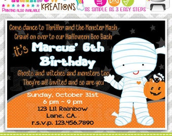 210: DIY - Halloween 4 Party Invitation Or Thank You Card