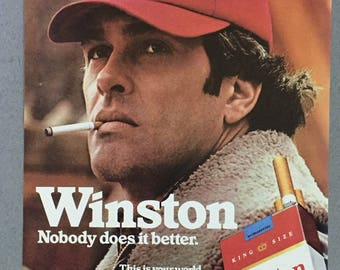 "1980 Winston Cigarettes Print Ad - ""Nobody does it better"""