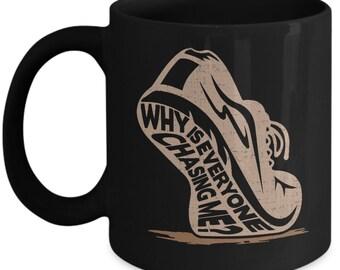 Runner Coffee Mug - Marathon Jogging Gift for Friend - Novelty Tea Cup