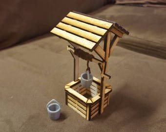 Fairy Garden - Wooden Wishing Well