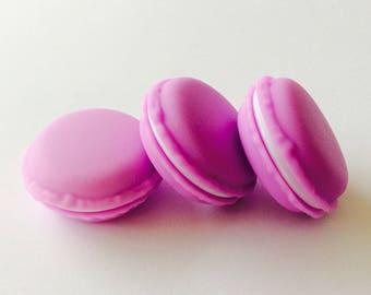 6 surprise macaron purple plastic boxes