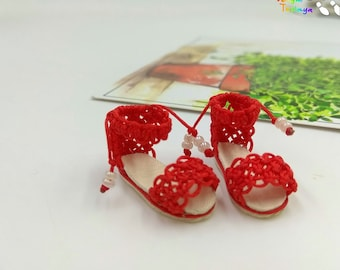 Blythe Momoko DAL Pullip  Handmade  Boots Shoes (BIG HEART)