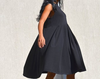 loose dress women, loose tunic dress, oversize dress, plus size tunic, oversize tunic, maternity dress, black day dress, loose day dress