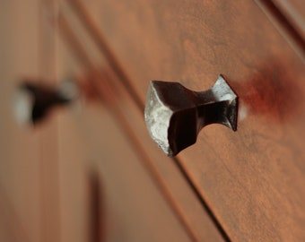 Drawer Pull - Hand Made Steel Frithia Knob - Cabinet Hardware