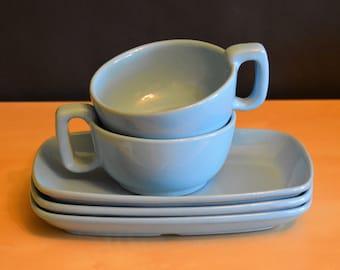 Set of 5 Frankoma Robin\u0027s Egg Blue Soup Sandwich ... & Soup sandwich tray | Etsy