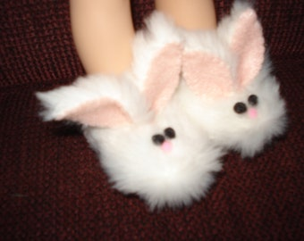 ready to ship Bunny Slippers fits 14 1/2 inch  such as Wellie Wisher Girl doll