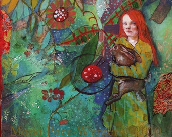 Unseen Beauty-ACEO  Open edition reproduction by Maria Pace-Wynters