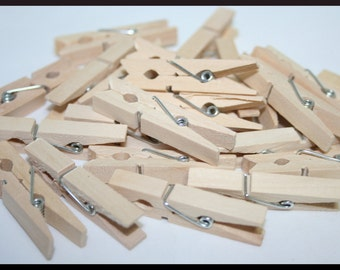 24- Small Wood Clothespins, 1 inch Clothespins, Wedding Clothespins, Tiny Clothespins, Mini Clothespins