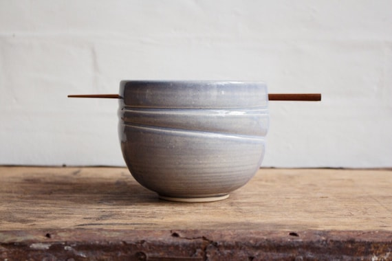 Rice Bowl in Blue Grey