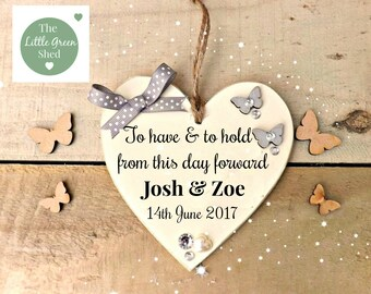 Wedding  Gift Plaque To Have & To Hold Sign Keepsake