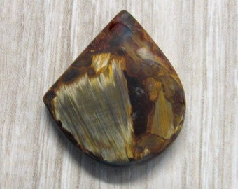 Chatoyant Golden Pietersite - Freeform Cabochon  – Designer Cabochon – for jewelry making