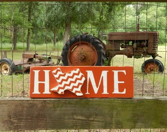 Texas Longhorns Home Sign, Burnt Orange And White Texas Home Sign,  University Of Texas