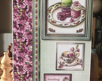 Handmade  Birthday Card 'Sending Sweet Thoughts'