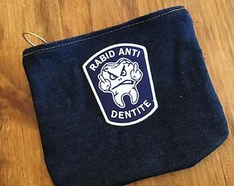 Raw Denim Accessory bag.