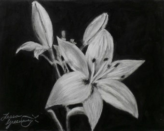 White Charcoal Lily