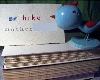 Take a Hike f-bomb blank card