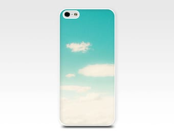 iphone 5s case iphone 4s blue sky iphone 6 case clouds iphone 4 case iphone 5 summer sky iphone case art photography case teal aqua case