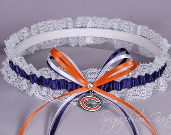 Chicago Bears Lace Wedding Garter
