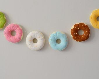 Bannière de feutre donut / anneau / playkitchen / décor / fait main guirlande feutre / brille anniversaire / pépinière / party décor / bonbons