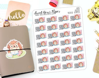 Video Game Stickers - Game Night Stickers - Hedgehog Stickers - Character Stickers - Teenager Stickers - 683