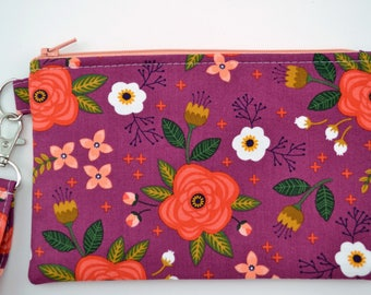 Wristlet Wallet. Zipper Pouch Wallet, Cell Phone Wristlet, Gift for Her, Gift for Mom
