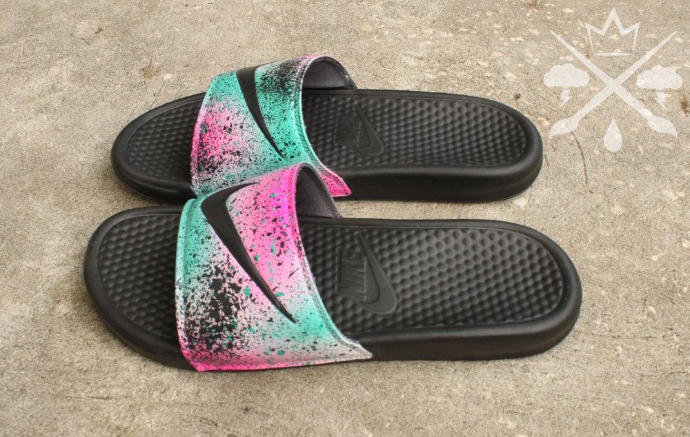 Womens/Men Nike Benassi Swoosh Create Slide discount Sandals White -Black