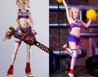 JULIET STARLING Cosplay (Lollipop Chainsaw, Juliet cosplay costume, Juliet Starling cosplay costume, Juliet classic outfit, game cosplay)