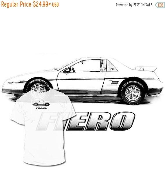 40% OFF SALE Pontiac Fiero Drawing T shirt Pontiac Solstice